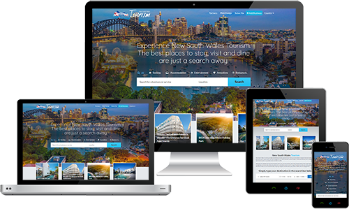 New South Wales Tourism  displayed beautifully on multiple devices