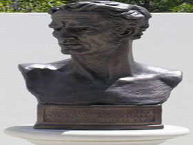 Adam Lindsay Gordon Bronze Bust - New South Wales Tourism