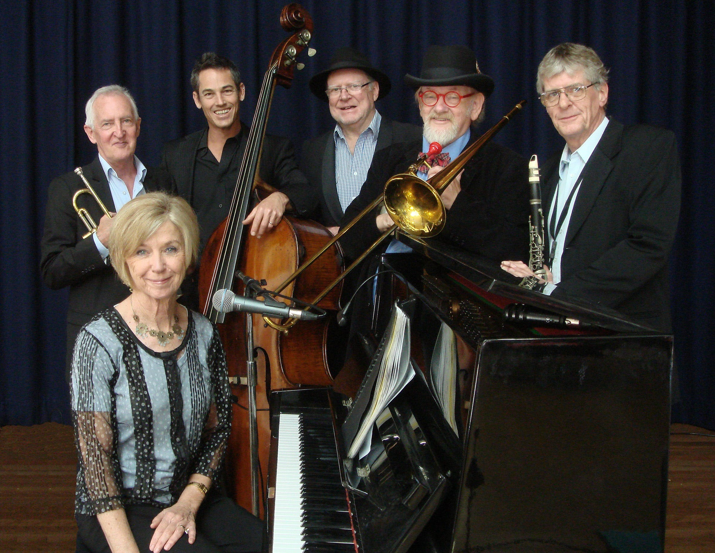 The Caxton Street Jazz Band in the Swigmore Hall at Robert Channon Wines - New South Wales Tourism